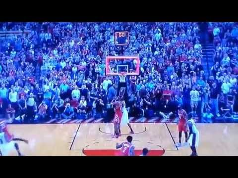 Buzzer Beater Damian Lillard Trail Blazers 99 vs  98 Rockets 2014 Playoffs