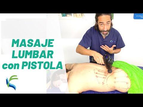 CÓMO HACER un MASAJE LUMBAR con pistola de masaje | Fisiolution