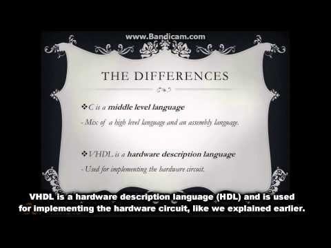 Differences between an HDL (Hardware Description Languages ) and a computer programming language.