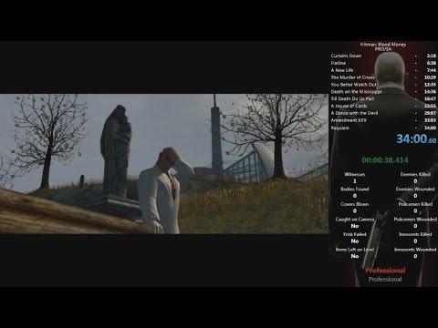 Hitman Blood Money - PRO/SA/SO/NG+ Speedrun In 34:00 (stream Recording)