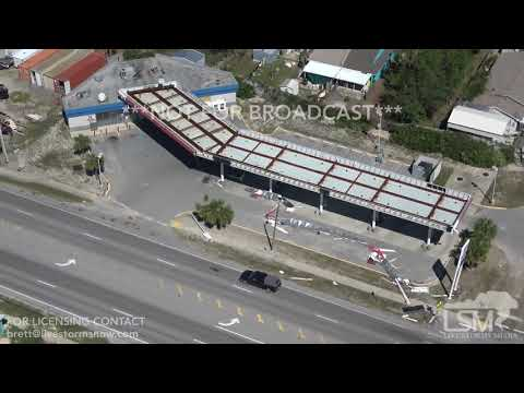 10 12 18 Panama City Beach, FL Damage At Popular Spots Club Lavela Pinapple Willies ETC Heli