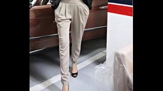 видео Женские зауженные брюки