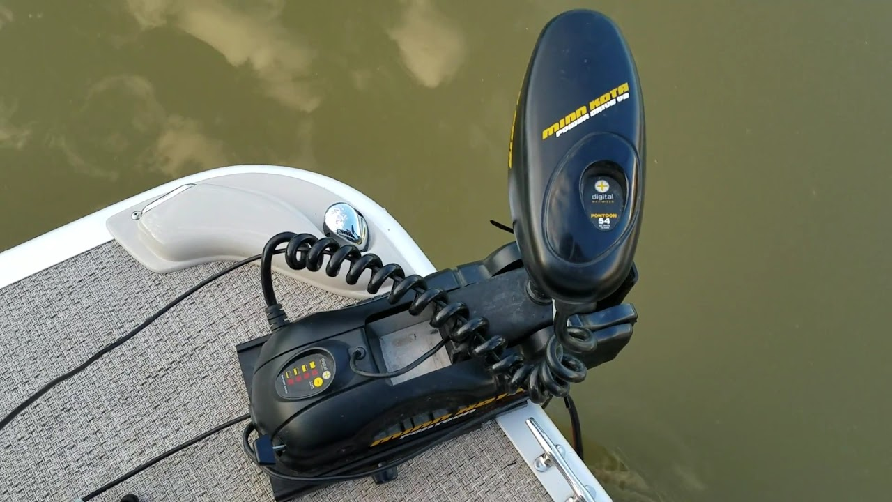 Minn kota v2 pontoon trolling motor youtube for Minn kota trolling motors for pontoon boats