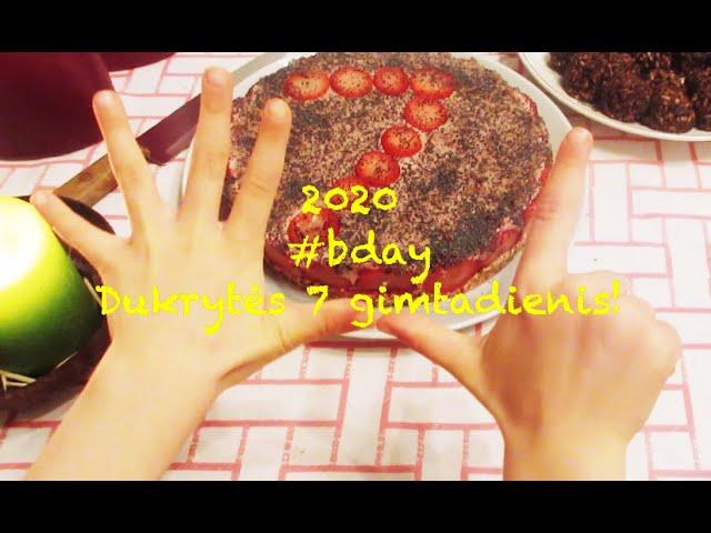 #vlog 19 #bday - Dukrytės 7 gimtadienis per verbų sekmadienį ir karantiną  / 2020 /  Vegan Pipiras