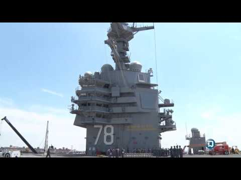 USS Gerald R. Ford (CVN 78) Media Day at Naval Station Norfolk