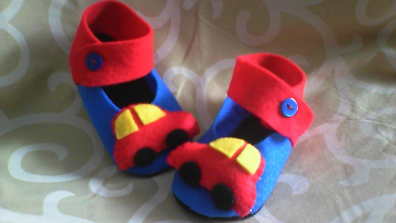 Membuat Sepatu Bayi Kain Flanel Youtube