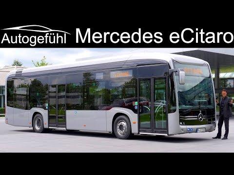 Daimler electric city bus Mercedes eCitaro PREMIERE - Autogefühl