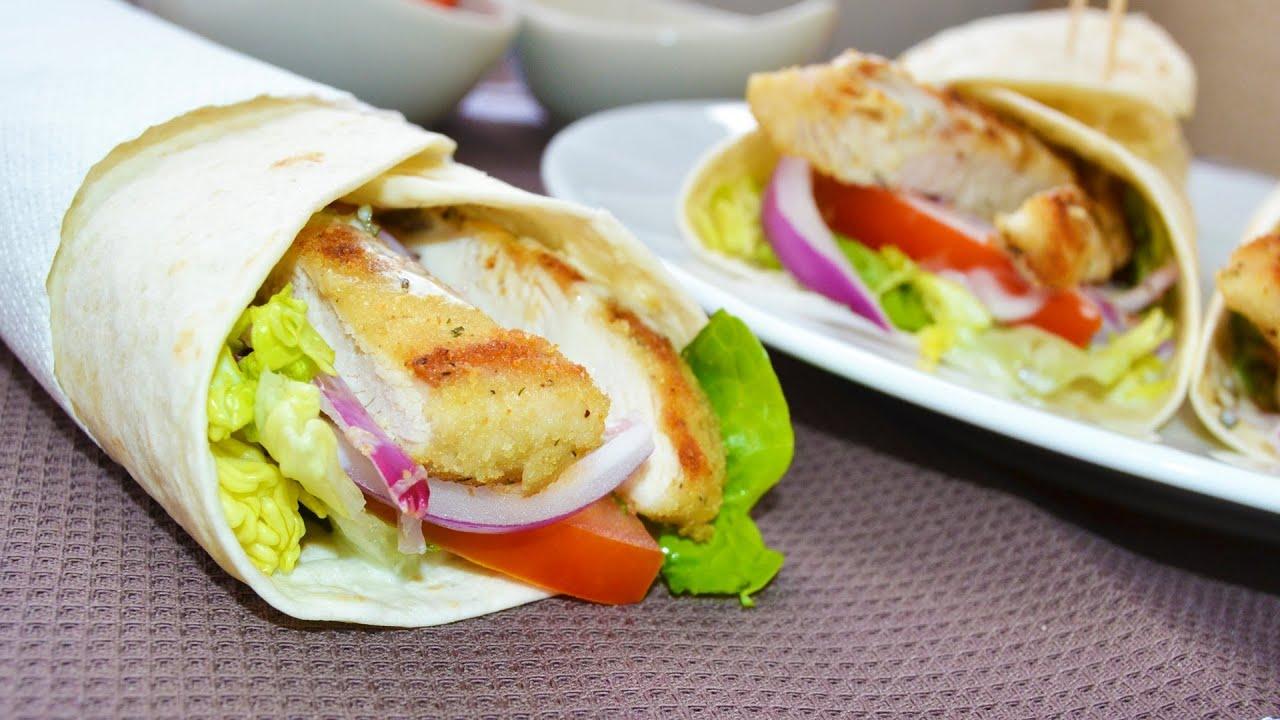 Wraps de pollo recetas de cocina f ciles y r pidas youtube for Rectas de cocina faciles