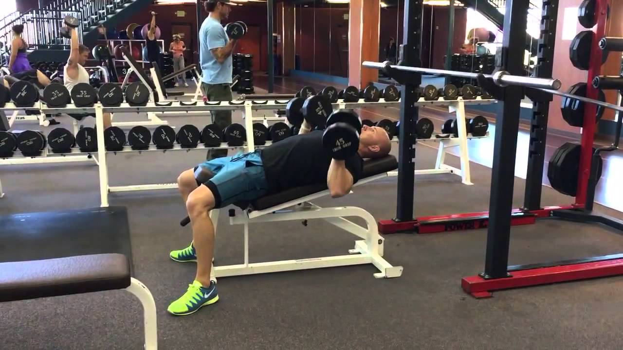 Slight Incline Dumbbell Bench Press Youtube