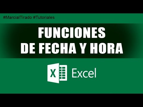 Tutorial Curso Excel Intermedio - Funciones de Fecha y Hora