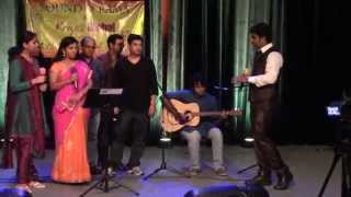 Telugu, Tamil, Hindi, Malayalam Songs Medley at Music For Cause of Freedom From Hunger