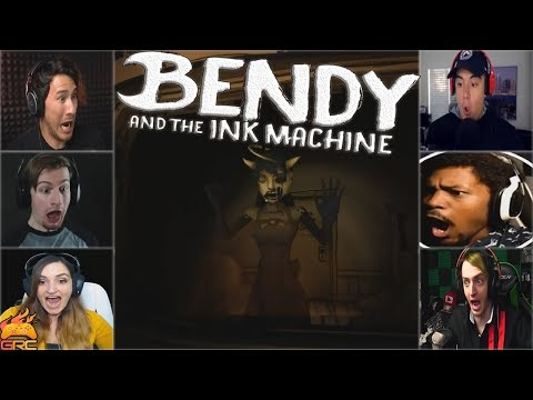 Gamers Reactions to the Alice Angel Jumpscare | Bendy and The Ink Machine - Chapter 3