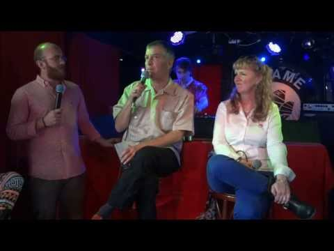 Larry Harvey and Marian Goodell at Paris 2013, talking about Burningman and Burning Project