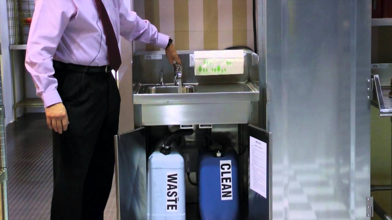 Universal Stainless Mobile Hand Wash Station By Spg Youtube