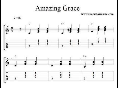 Amazing Grace Chord Accompaniment Youtube