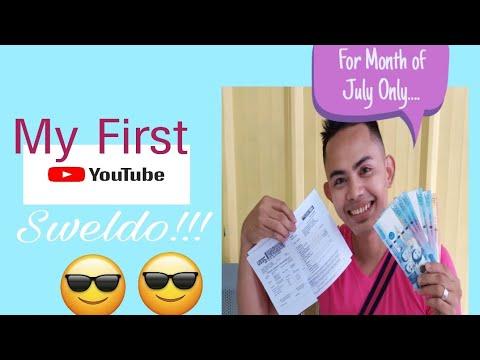 My First Youtube Sweldo