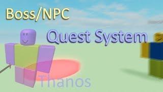 Boss/NPC Quest System | Roblox