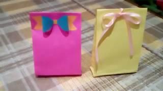 DIY : Подарочный Пакетик Своими Руками *** Сумочка для Подарка из Цветной Бумаги *** Bag for Gift