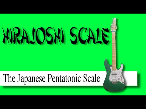 The Japanese pentatonic (Hirajoshi) scale.