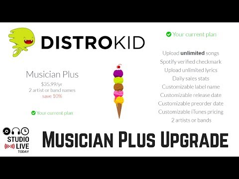 Upgrading Distrokid to a Musician Plus Account Mp3