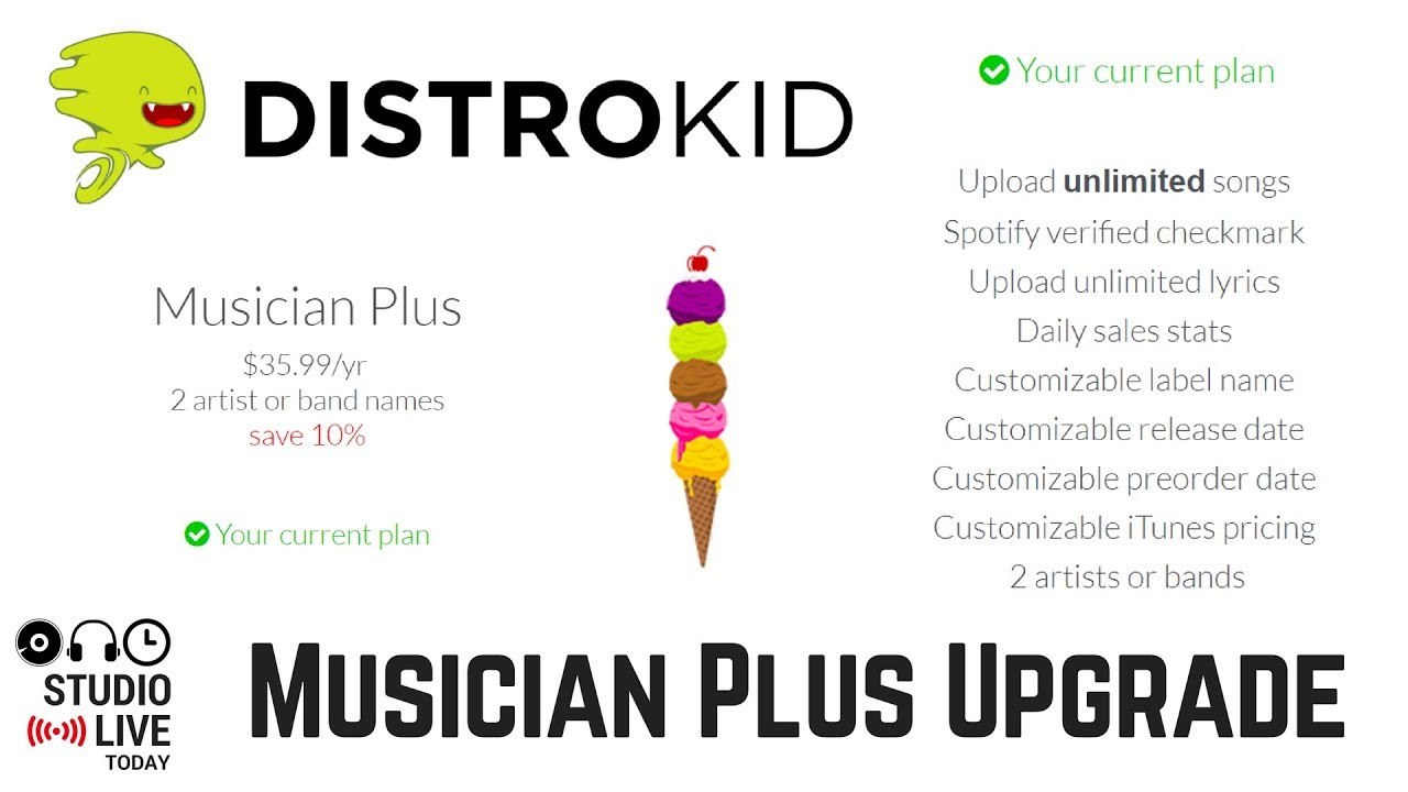 Upgrading Distrokid to a Musician Plus Account