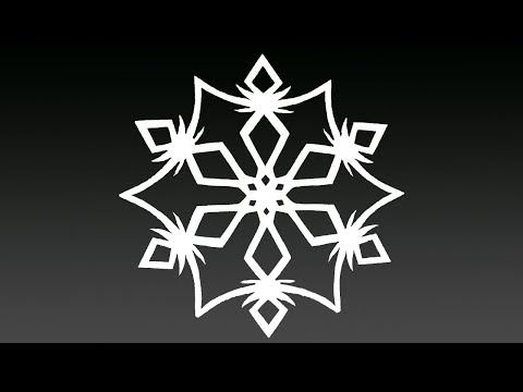 Paper snowflake tutorial - Look here! Snowflakes in 7 minutes