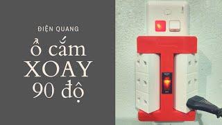Ổ cắm điện xoay 90 độ Điện Quang 6 lỗ chính hãng