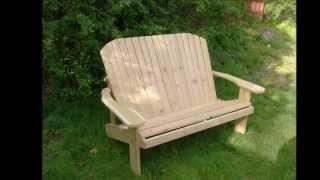 Adirondack Style Benches