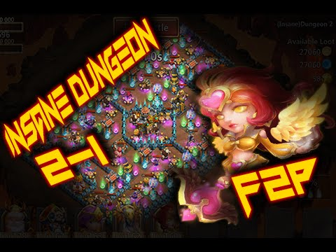 Castle Clash: Insane Dungeon 2-1 ❚ 3 Flame ❚ F2P