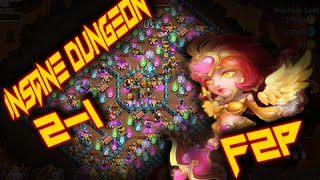 castle clash insane dungeon 2 1 3 flame f2p