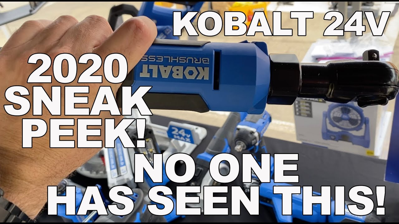 Lowes Kobalt 24V First Look - New Tools for 2020