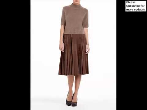 Collection Of Brown Leather Pleated Skirt Picture Ideas | Brown ...