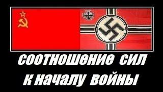 СССР vs Германия 22 июня 1941г Соотношение сил армий