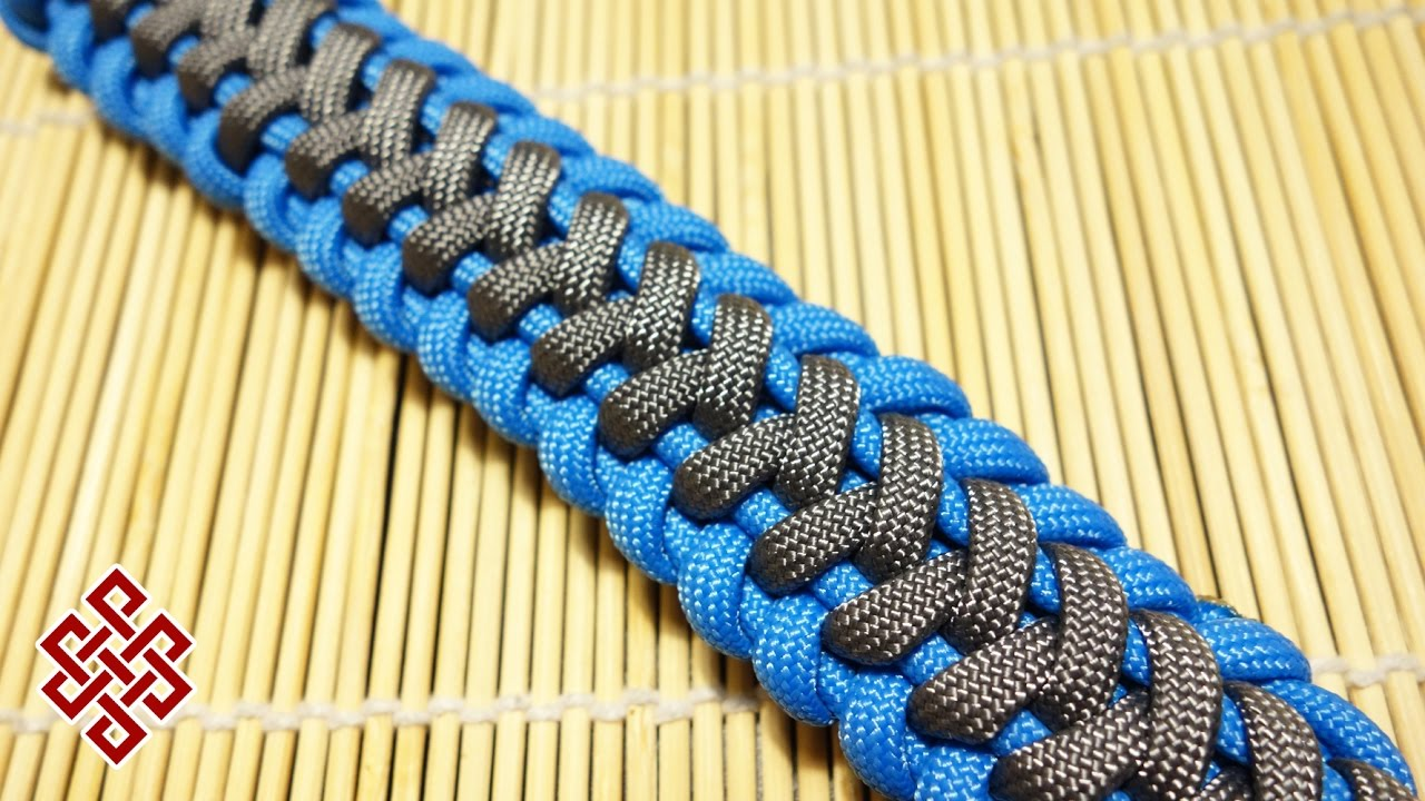How To Make The Wave Paracord Bracelet Tutorial Youtube
