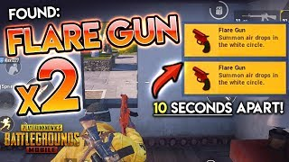 I FOUND TWO FLARE GUNS in 10 SECONDS HERE - PUBG Mobile