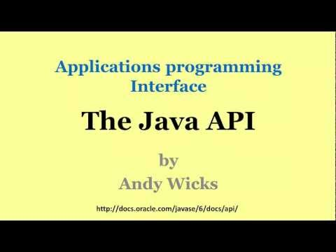 Java - The Java API