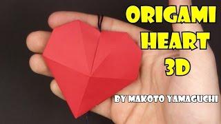 Como fazer origami coração 3D