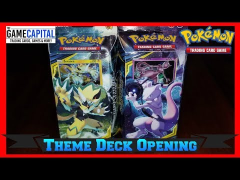 Pokemon UNBROKEN BONDS Theme Deck Opening & Review Featuring Zeraora & Mewtwo