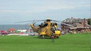 Sea King Helicopter Landing On Holgates Green Isles OfScilly - Royal navy sea king gets transformed into unique glamping pod