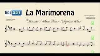 La Marimorena Sheet Music for Tenor Saxophone, Soprano Saxophone and Clarinet