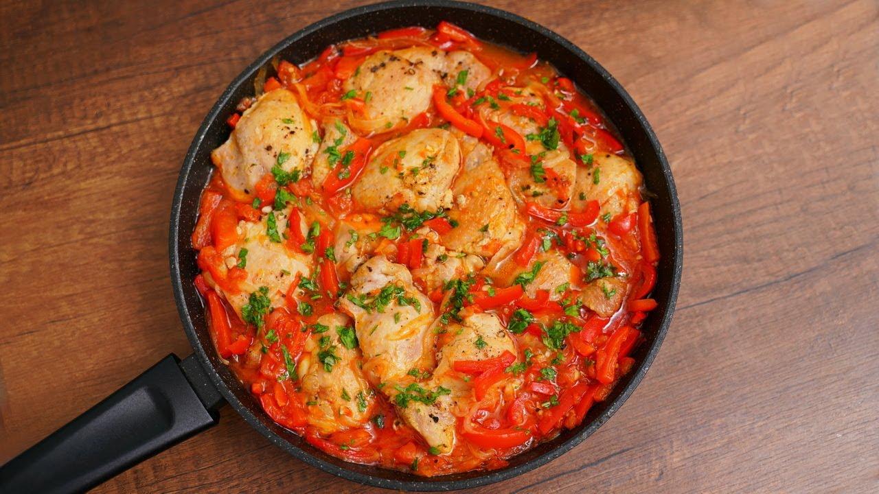 Курочка «Пальчики оближешь»! Очень сочные и вкусные куриные бедра на сковороде!