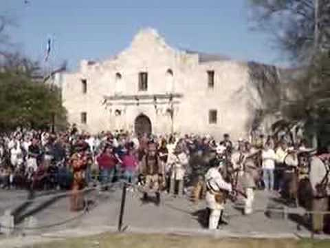 2008 Alamo Battle Reenactment Clip Part 1 Youtube