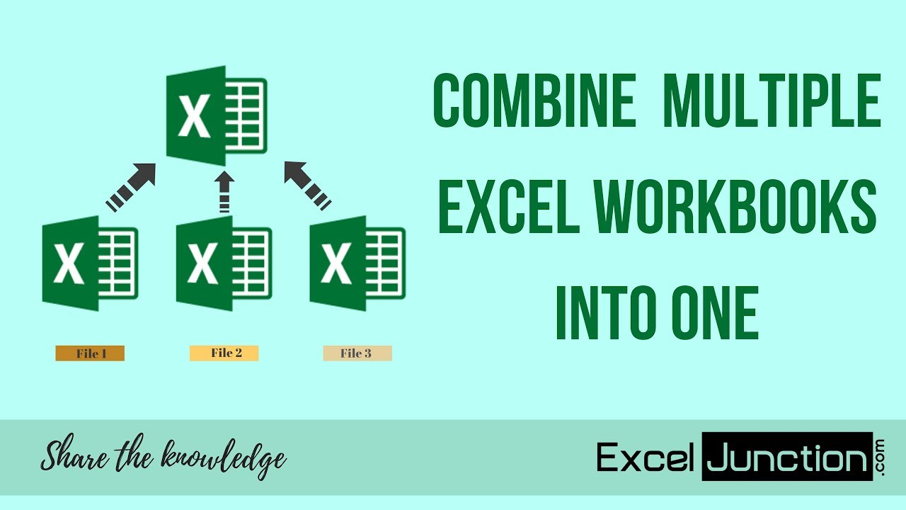 How to COMBINE Multiple Excel WORKBOOKS into One Workbook - Excel