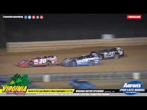 Aaron's Pro Late Model Feature Highlights may 2, 2015