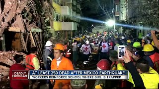 At least 250 dead after Mexico earthquake