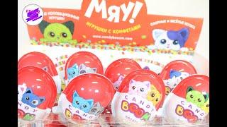 """Сюрпризы с игрушками! """"Мяу"""" КЭНДИ БУМ! Разноцветные котята в сюрпризах!"""