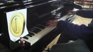 Mario Coin Sound played on a $100,000 Concert Grand Piano! 303rd Video Special!!!