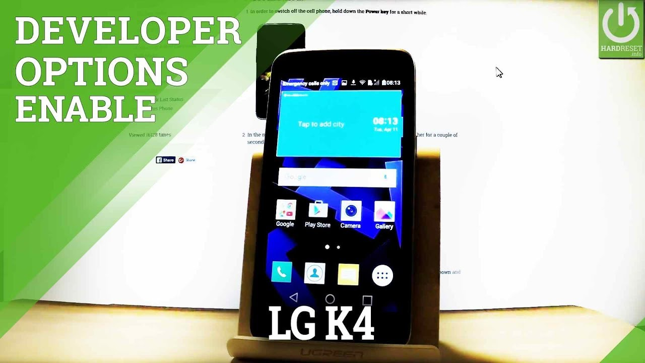 How To Enable Developer Options In Lg K4 Usb Debuging Youtube Option 2 Power Switches