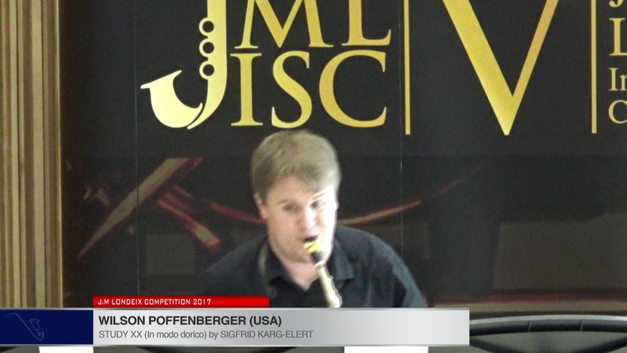Londeix 2017 - Wilson Poffenberger (USA) - XX In Modo Dorico by Sigfrid Karg Elert