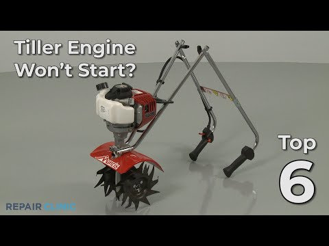 "Thumbnail for video ""Tiller Engine Won't Start? Tiller Troubleshooting"""